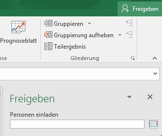 Excel freigeben