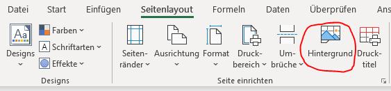 Hintergrund einfügen bei Excel Dashboard