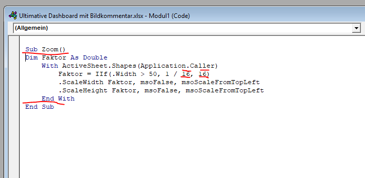 VBA Code zum Bild vergrößern in Excel