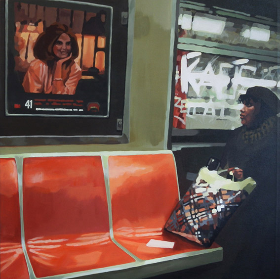 Subway 3 - cm 60x60 - (sold)
