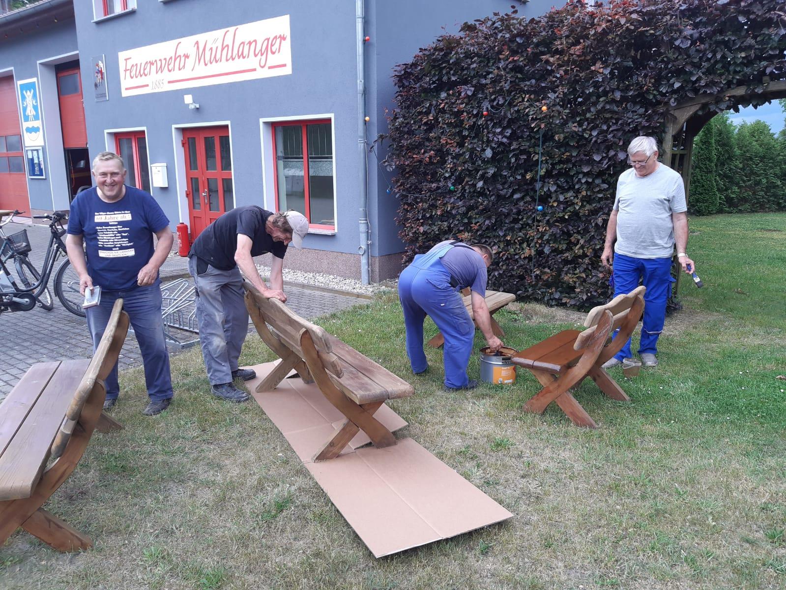 Aufarbeitung und Reparatur unserer Grillecke (Herbst 2020)