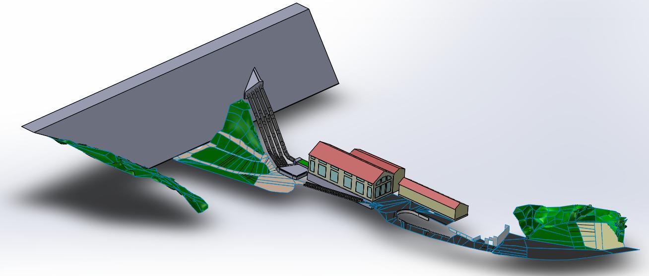 Modélisation 3D à partir du scan du barrage de Guerlédan