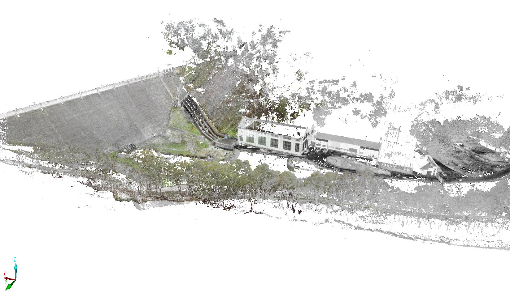 Scan 3D du barrage de Guerlédan
