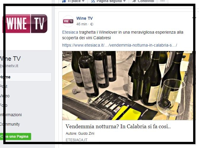 Wine Tv, Etesiaca itinerari di vino blog