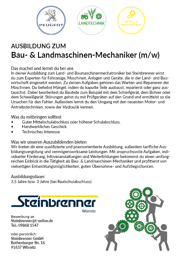 Ausbildung zum Bau- & Landmaschinen-Mechaniker