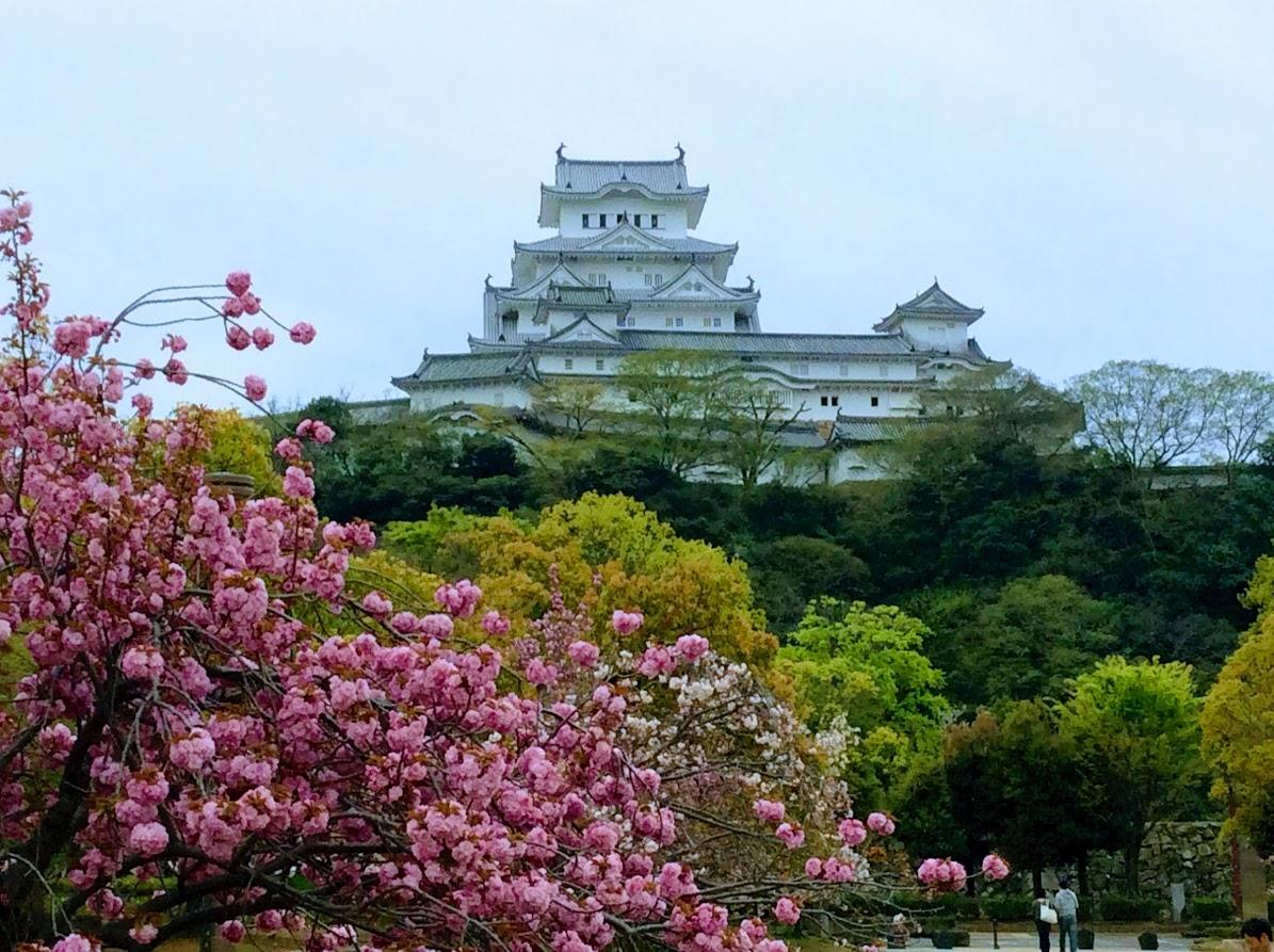 「春の姫路城」ちえちゃん