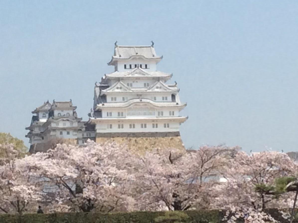 「春の姫路城」ふーちゃん