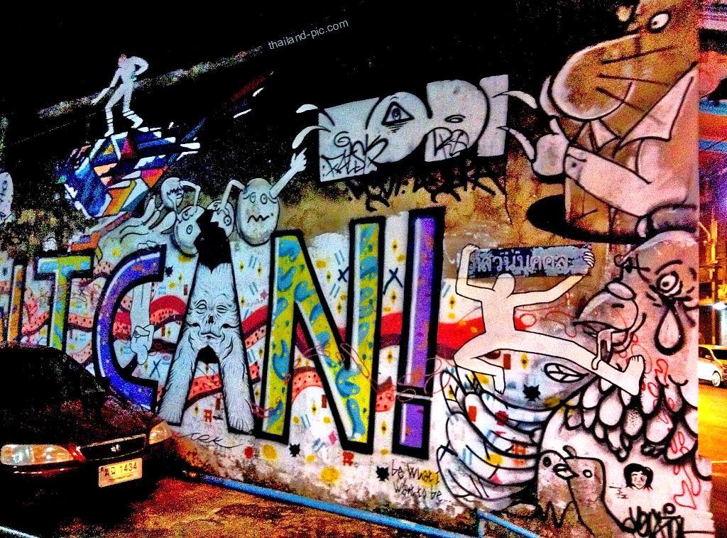 Street Art - Bangkok - Thailand - Picture taken at China Town near Soi Nana