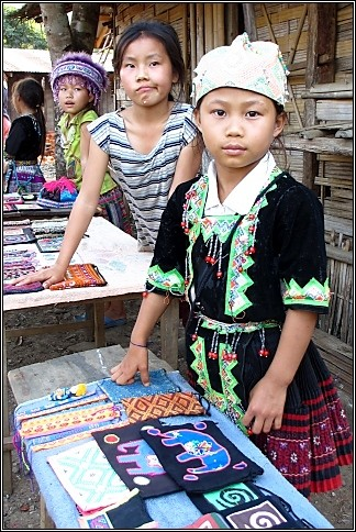 Young Hill Tribe Girls