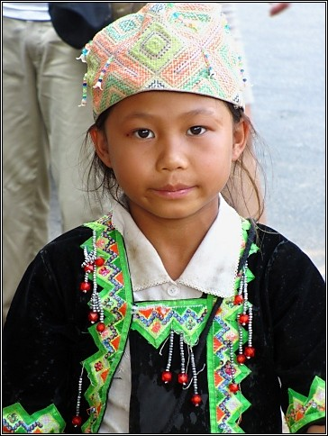 Young Hill Tribe Girl
