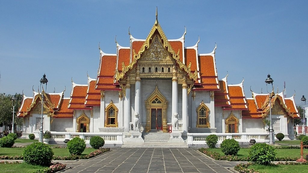 Wat Benchamabophit Or The Marble Temple - Bangkok