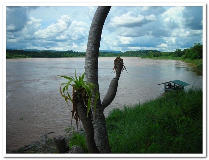 "View from ""River View Restaurant"" on the Mekong River"