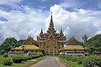 The palast of the last King of Burma.