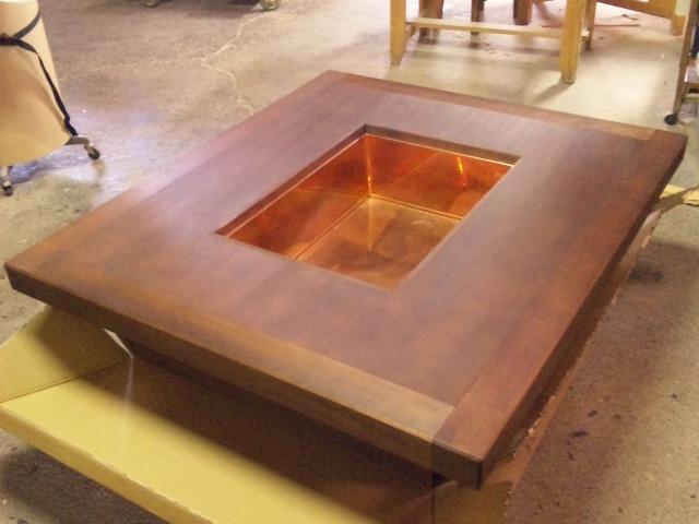 本格置き囲炉裏長方形銅板火床 +20,000.-