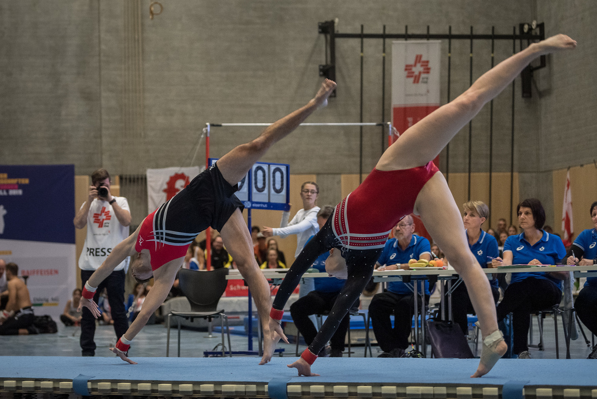 Schweizermeisterschaft Geräteturnen Sie & Er (Noemi Kunz & Raphael Oberli) 2019