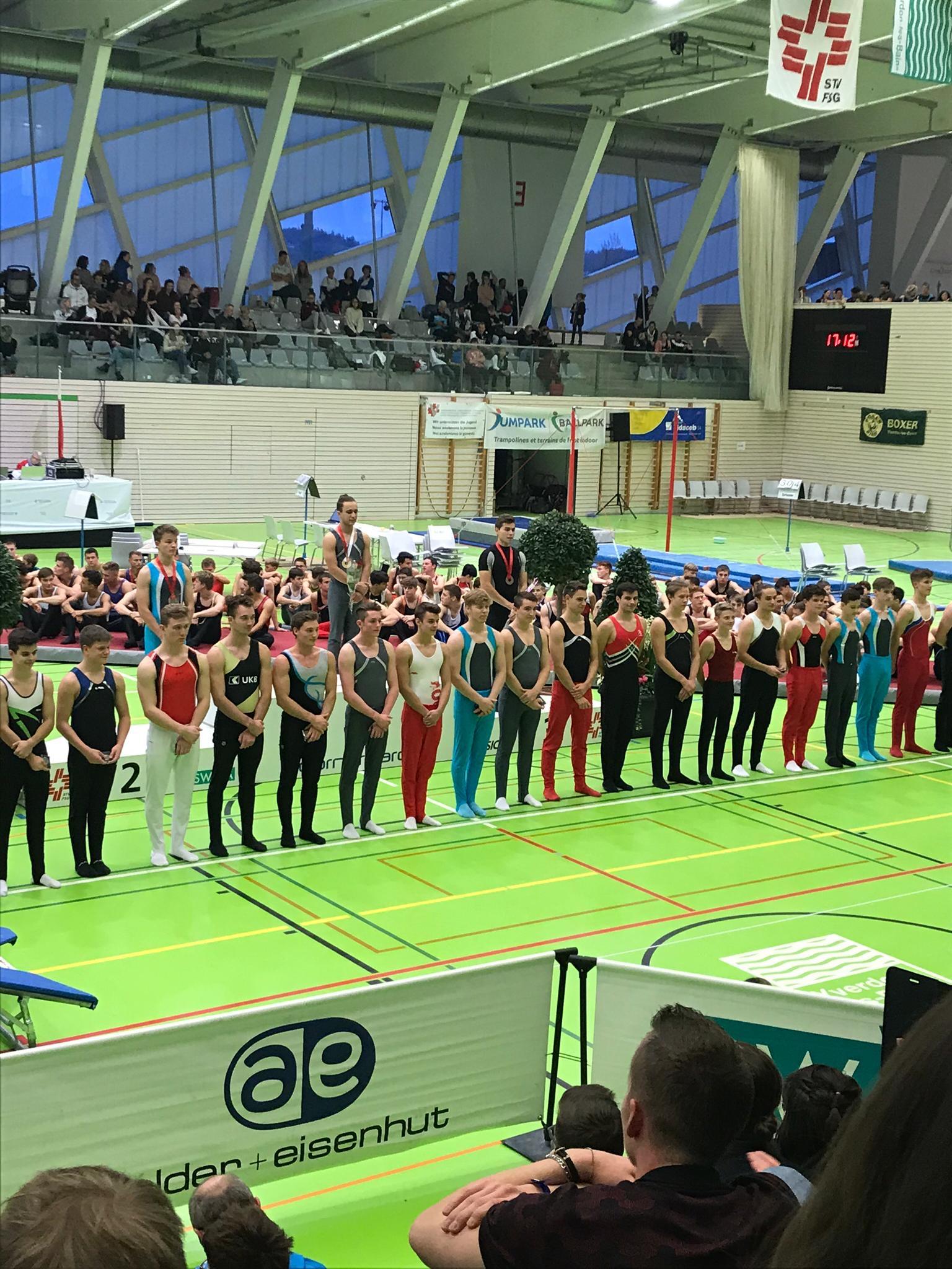 Schweizermeisterschaften Geräteturnen (Raphael Oberli 15. Rang) 2019
