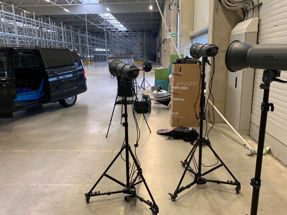 Vorbereitung vor dem Shooting