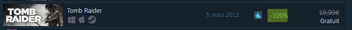 Tomb Raider reboot 2013 sur Steam Gratuit