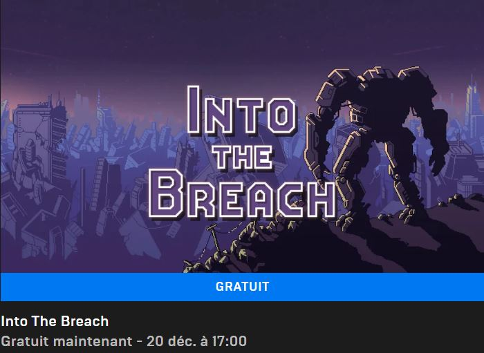 Into the breach gratuit epic Games Store