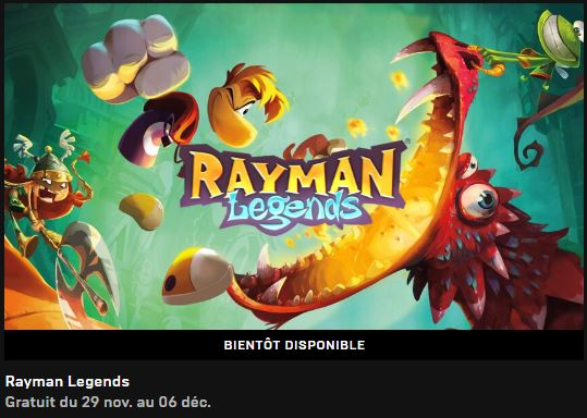 Epic Game Store  Rayman Legends