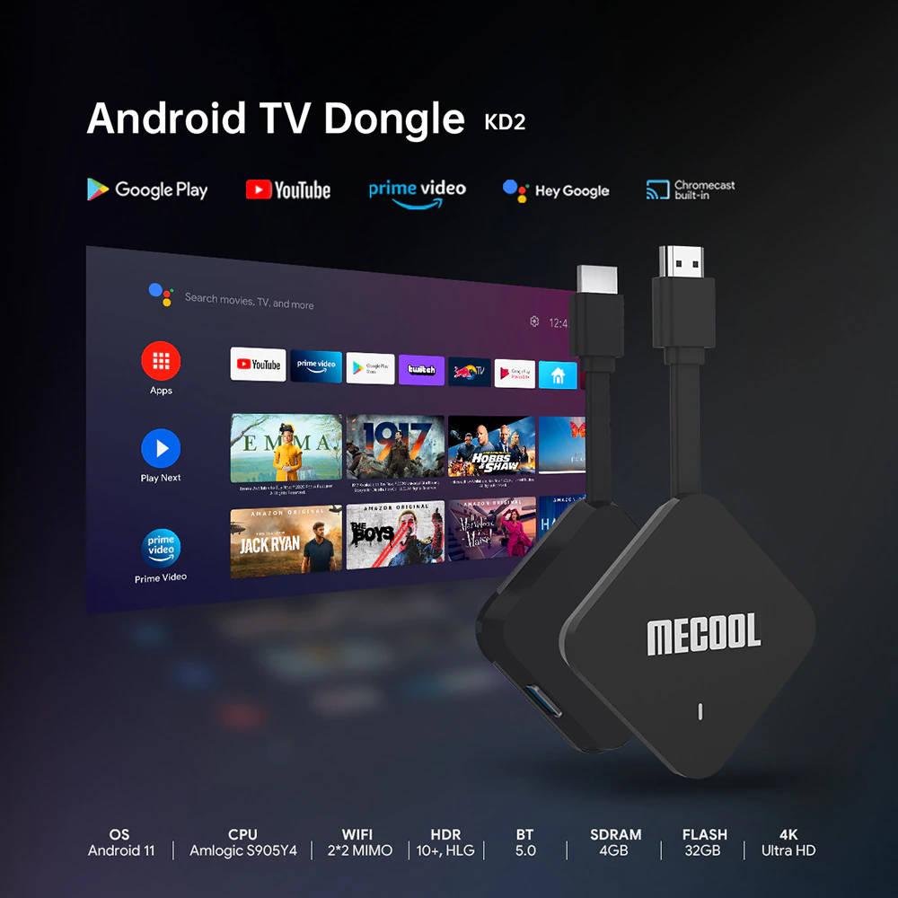 Mecool KD2 : un nouveau Dongle TV sous Android TV 11 avec SoC S905Y4