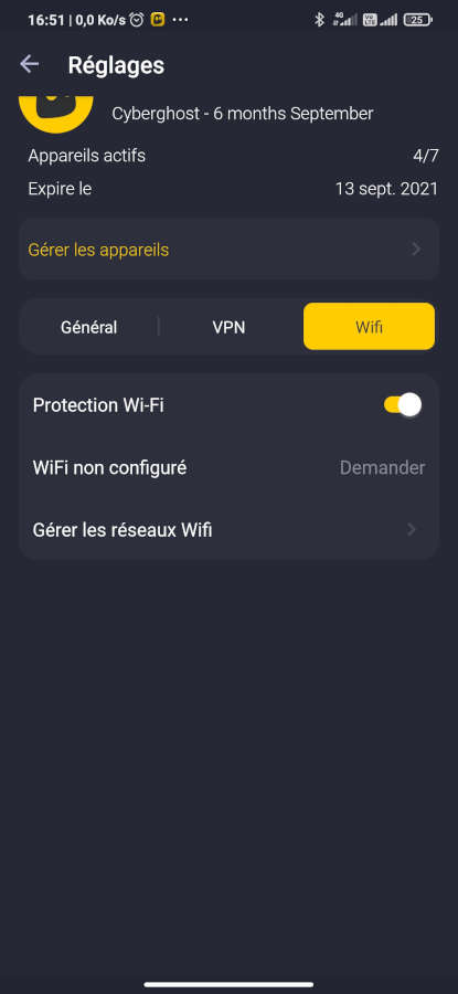 Cyberghost VPN Android interface (4)