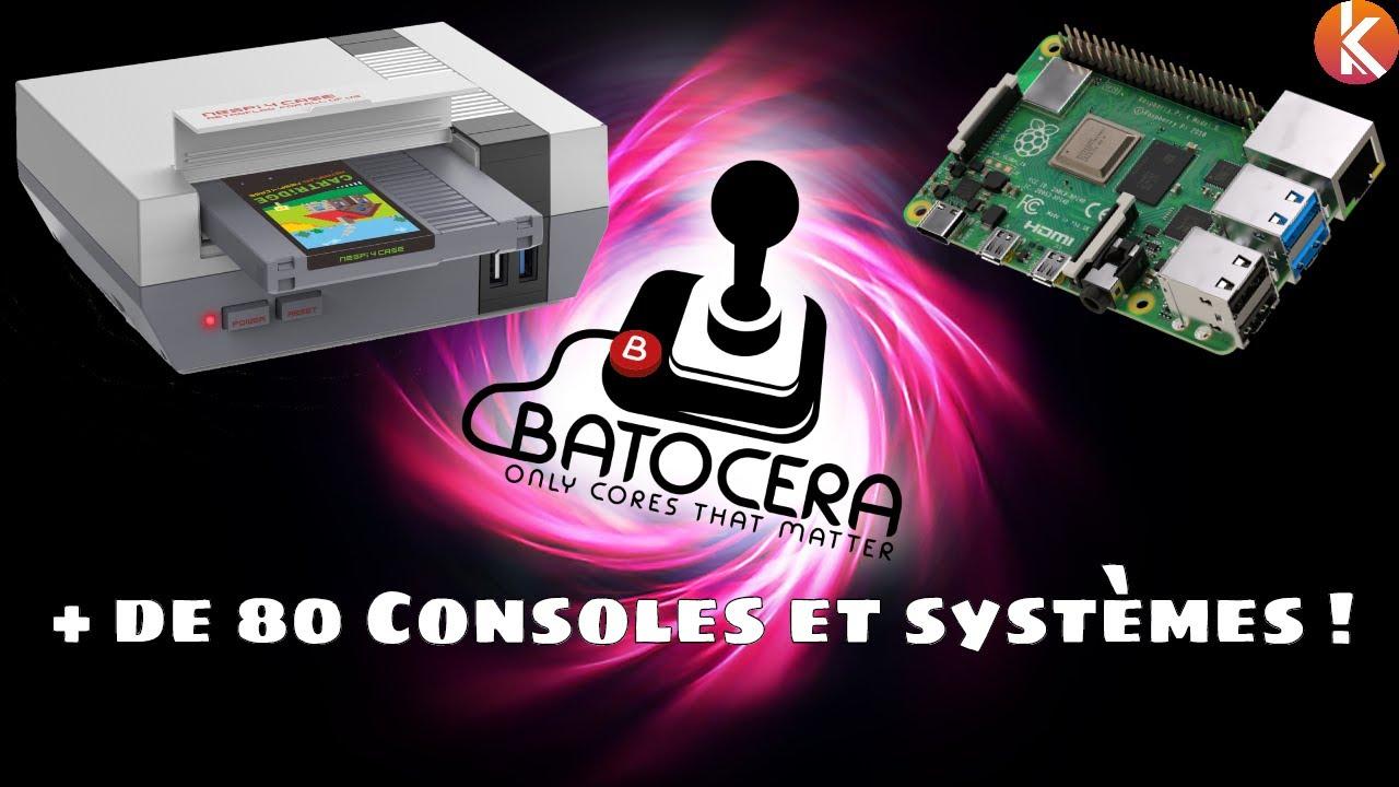 Créer sa console Batocera compatible avec les jeux de + de 80 consoles avec un Raspberry Pi 4 et un NESPi 4 Case de Retroflag