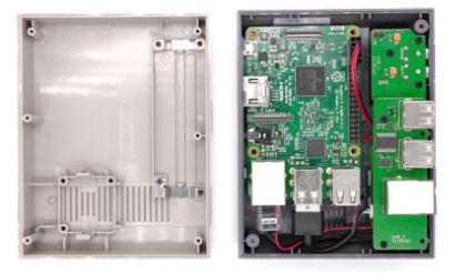 Intérieur du boitier NESPi pour Raspberry Pi