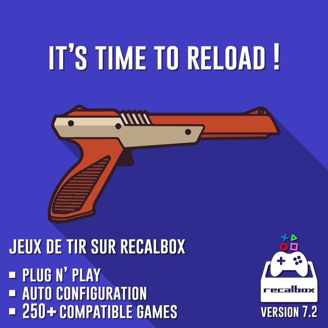 Recalbox 7.2 est dispo : + de 250 jeux de tir au pistolet sans aucune configuration, amélioration des performances, nouveaux systèmes etc ...