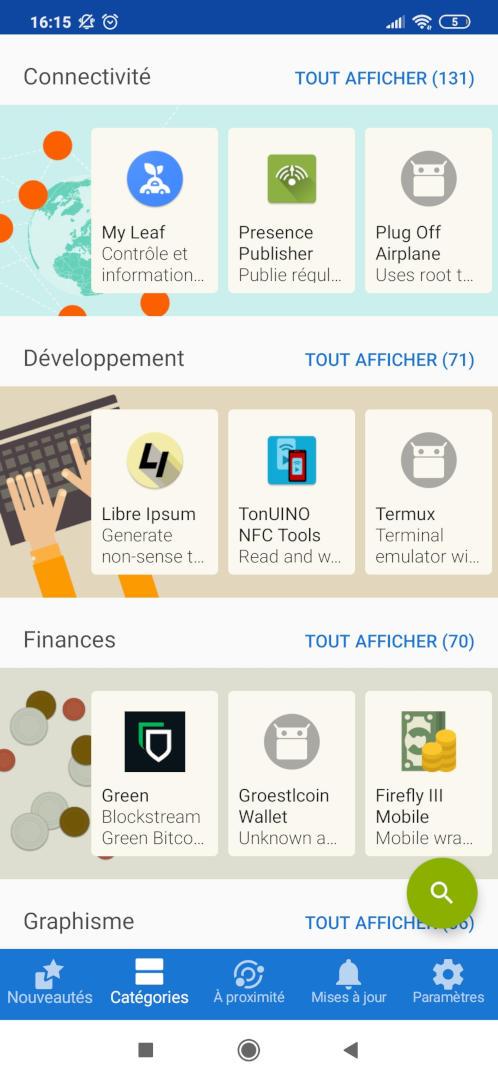 F-Droid store d'applications libres et gratuites