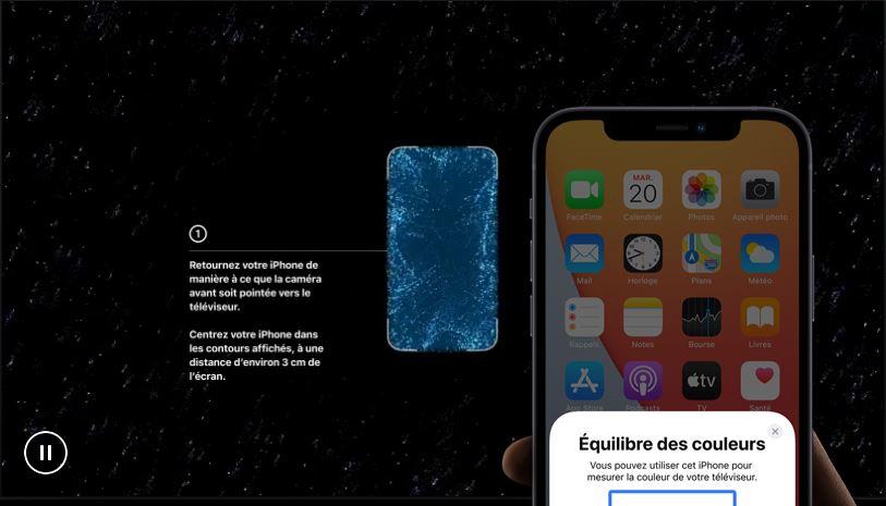 Apple TV 4K équilibre couleurs