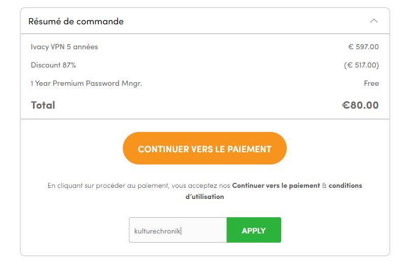 Ivacy VPN code promo réduction (3)