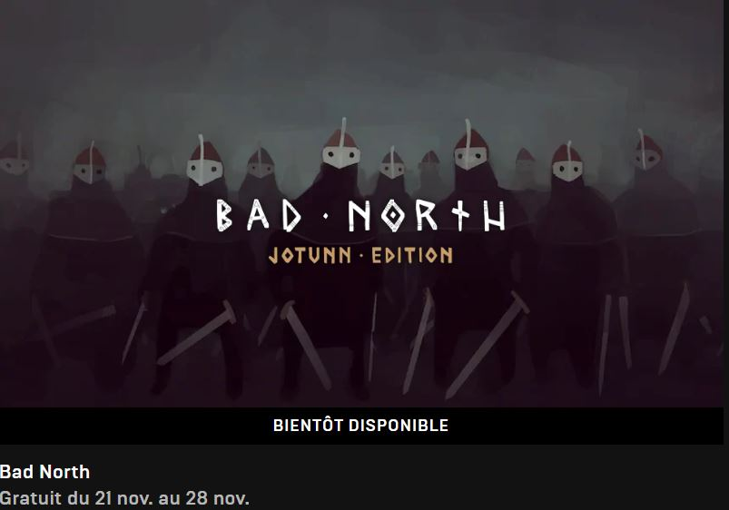 Epic Game Store  Bad North