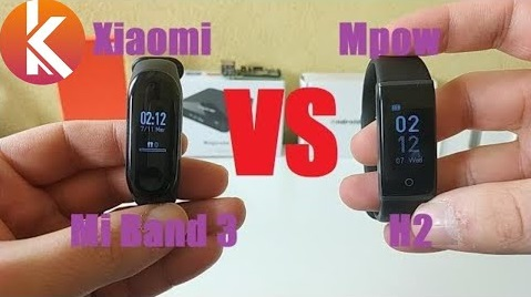 Xiaomi Mi Band 3 vs Mpow H2 : comparatif de 2 bracelets connectés