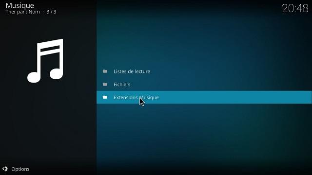 Installer youtube Music Addon sur kodi