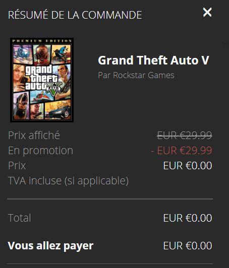 GTA 5 pas cher Gratuit sur l'Epic Games Store