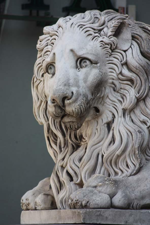 Löwe vor der Kirche in Genua