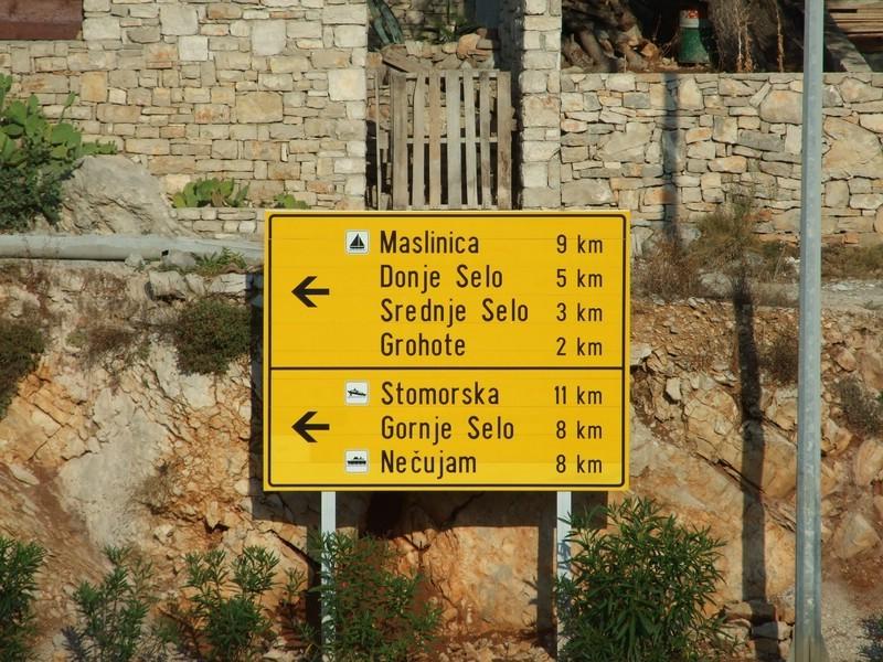Insel Solta, mehr Dörfer gibts nicht....