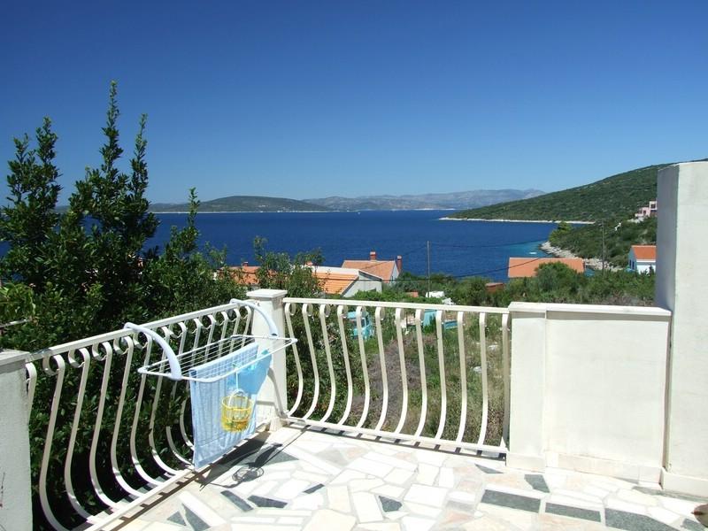 Blick von unserer Terrasse in Richtung Festland (Trogir)