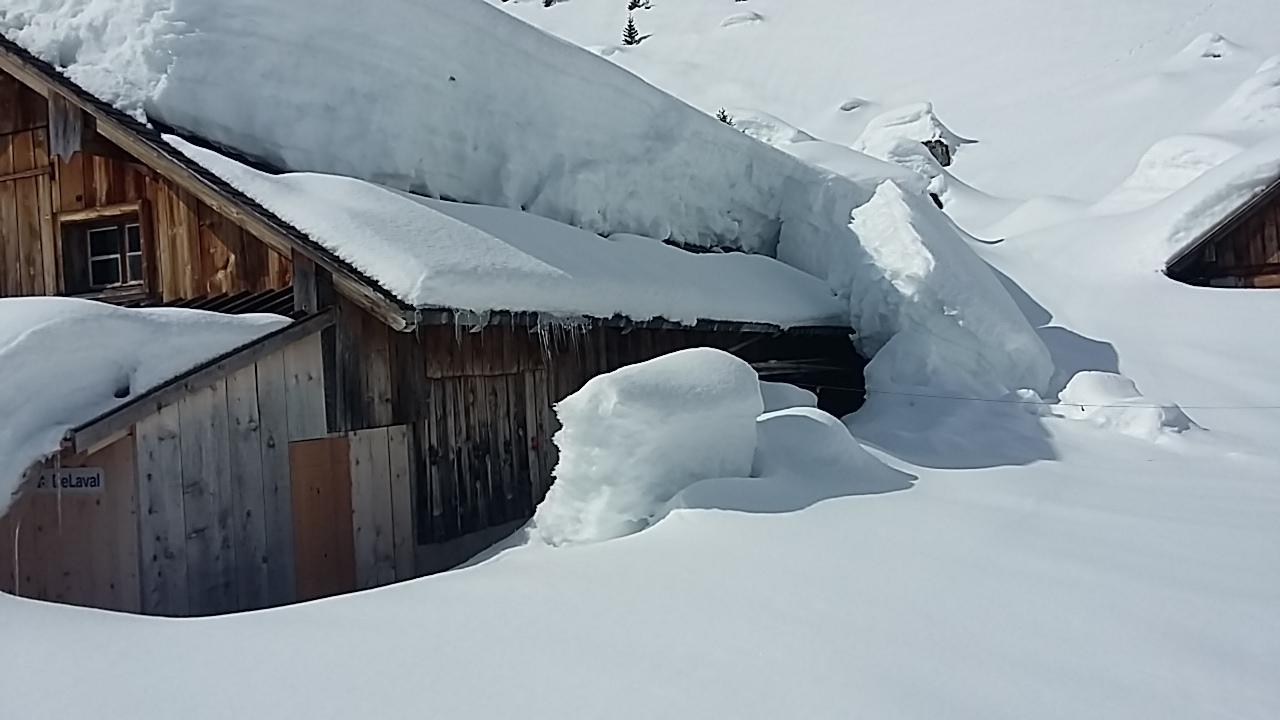 Im Winter liegt die Alp meist tief verschneit und ganz still da.