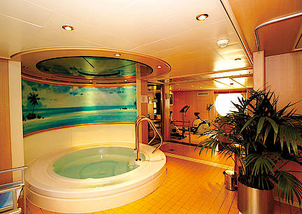 Wellness Sauna an Bord MS Bolero von Nicko Cruises