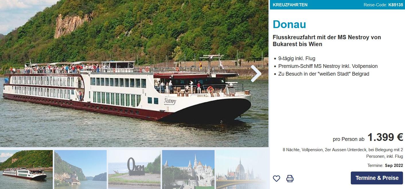 Flussreise Donau Delta Abbis Wien Ab 1299 Incl Fluganreise Ab