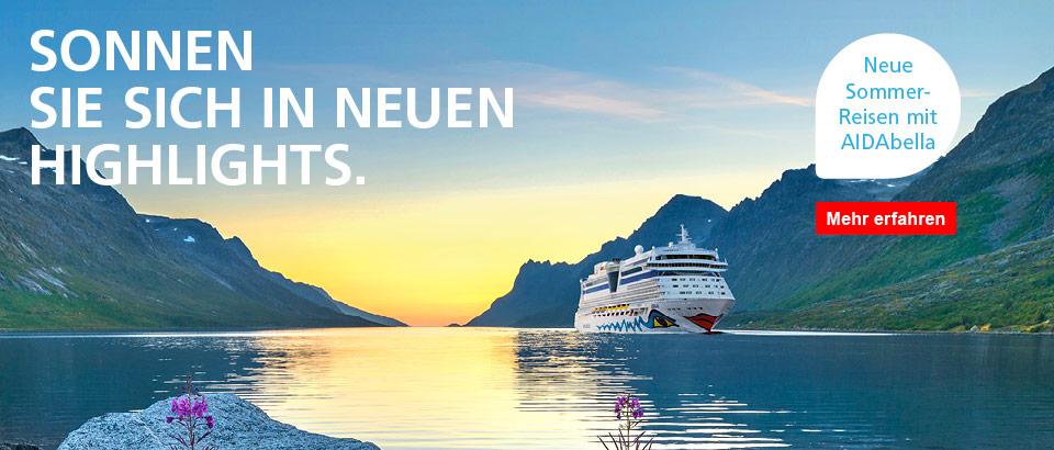 AIDA Nordland Kreuzfahrten auf der Ostsee ab Kiel Norwegen Fjorde Bergen Russland Tallin