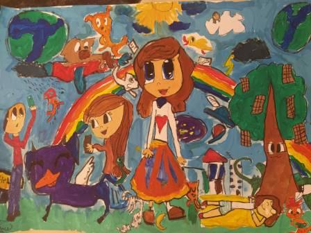 Моя мрія -Казкове містечко, Шпетна Ксенія, 10 років.