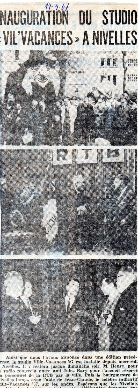"""Suite du texte...se défendront dignement dans les différentes épreuves que constitue """"Ville-Vacances 1967""""..Article paru dans le journal """"Le Peuple"""" du 14/04/1967"""