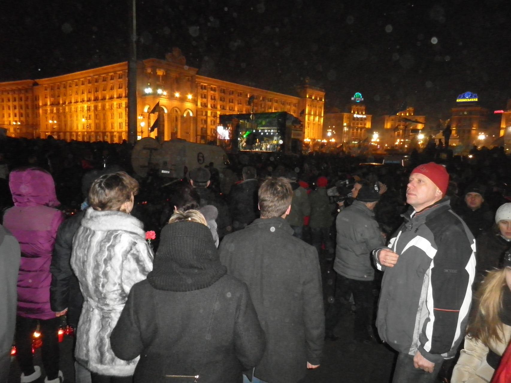 Wir sind in Gedanken bei den Freunden, Familien der Opfer auf dem Maidan 26.02.2014