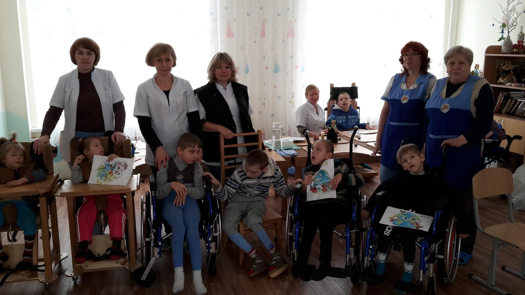 Besuch im Reha Zentrum für schwerst Behinderte Kinder