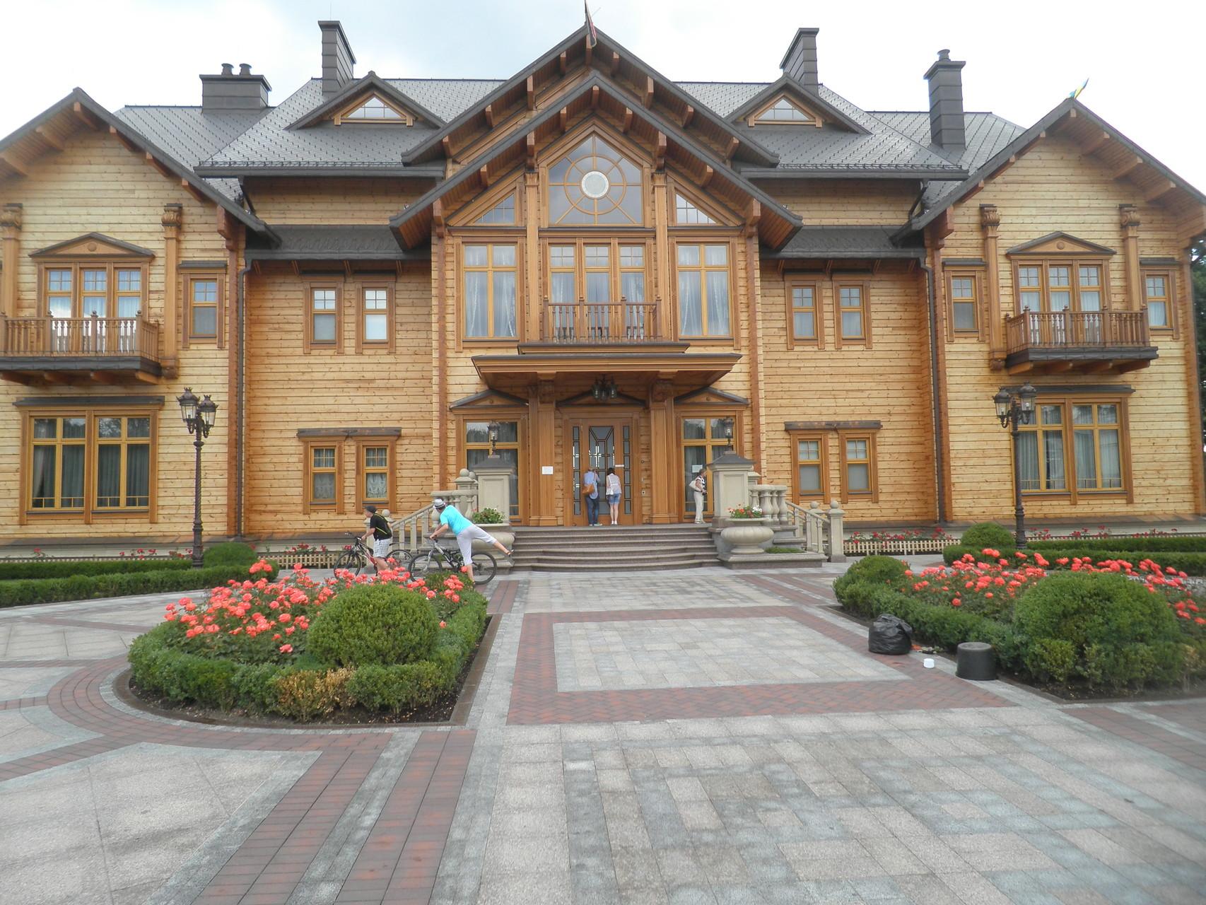 Das bescheidene Wohnhaus vom ex. Präsident Janukowytsch