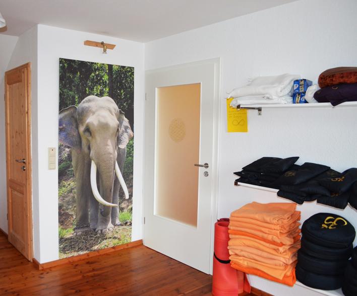 Eingang Yogaraum