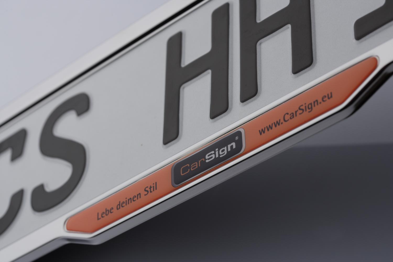 ParkSign Edelstahlrahmen mit Inlay aus Kunstharz Doming
